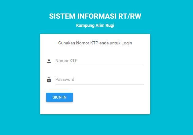 Pengembangan Sistem Informasi Rt Rw Untuk Rt Rw Zaman Now